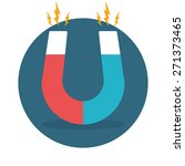 blue and red horseshoe magnet ... | Shutterstock .eps vector #271373465