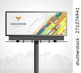 billboard mock up for logo...   Shutterstock .eps vector #271374941
