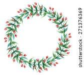 watercolor vector wreath with... | Shutterstock .eps vector #271376369