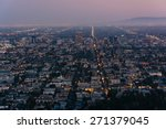 view of los angeles at night ... | Shutterstock . vector #271379045