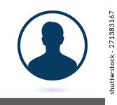 user sign icon. person symbol.... | Shutterstock .eps vector #271383167