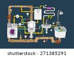 sanitary engineering   Shutterstock .eps vector #271385291
