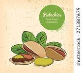 pistachios on background ... | Shutterstock .eps vector #271387679