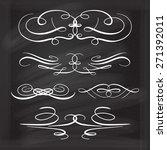 calligraphic design elements... | Shutterstock .eps vector #271392011