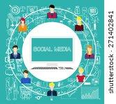 social media concept. social... | Shutterstock .eps vector #271402841