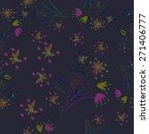 circular seamless pattern of... | Shutterstock .eps vector #271406777
