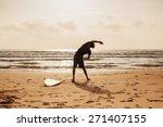surfer man fitness stretching...   Shutterstock . vector #271407155