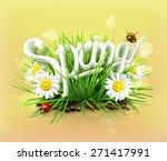 spring  time for a picnic ... | Shutterstock .eps vector #271417991