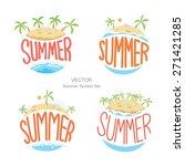 island summer symbols set vector | Shutterstock .eps vector #271421285