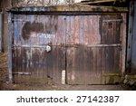 Old Rusty Garage Door