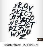 handwritten calligraphic black... | Shutterstock .eps vector #271423871