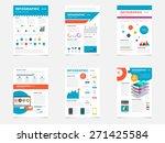 set of flyer  brochure design... | Shutterstock .eps vector #271425584