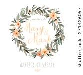 vector watercolor colorful... | Shutterstock .eps vector #271426097