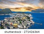 norway  alesund town panoramic... | Shutterstock . vector #271426364
