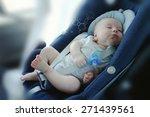 Cute Funny Baby Boy Is Sleepin...