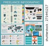 freelance infographic template. ... | Shutterstock .eps vector #271441217
