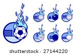 a set of vector sport theme... | Shutterstock .eps vector #27144220