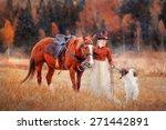 Lady In Riding Habbit Xix...
