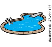 in ground swimming pool   Shutterstock .eps vector #271444649