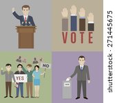 elections. the candidate and... | Shutterstock .eps vector #271445675