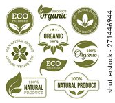 set of green labels and badges... | Shutterstock .eps vector #271446944
