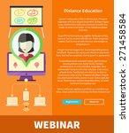 webinare  distance education...   Shutterstock .eps vector #271458584