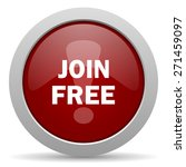 join free red glossy web icon  | Shutterstock . vector #271459097