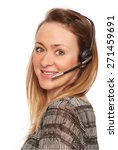 young woman with headphone   Shutterstock . vector #271459691