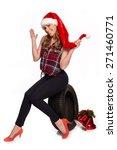 christmas greetings for the... | Shutterstock . vector #271460771