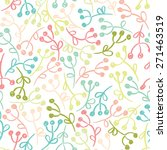 seamless pattern with hand... | Shutterstock .eps vector #271463519