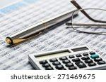 finance  calculator  work tool. | Shutterstock . vector #271469675