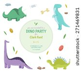Dinosaurs. Invitation Card ...