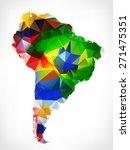 abstract polygonal geometric...   Shutterstock . vector #271475351