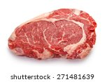 fresh raw beef steak isolated... | Shutterstock . vector #271481639
