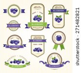 blueberry labels. fruits badges ... | Shutterstock .eps vector #271482821