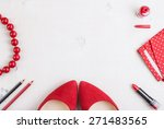 still life of fashion woman.... | Shutterstock . vector #271483565
