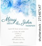 wedding invitation template...   Shutterstock .eps vector #271487147