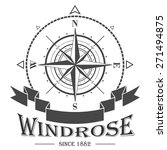 nautical corporate logo with... | Shutterstock . vector #271494875