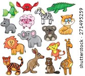 vector illustration with cute... | Shutterstock .eps vector #271495259