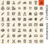 education icons set. back to... | Shutterstock .eps vector #271498631