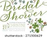 vintage style bridal shower...   Shutterstock .eps vector #271500629