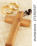 Cross And Wedding Rings