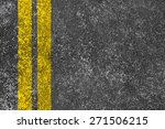 Yellow Lines Is Painted On The...