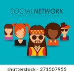 social network design  vector... | Shutterstock .eps vector #271507955