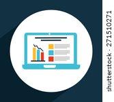 statistics graph design  vector ... | Shutterstock .eps vector #271510271