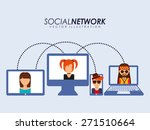 social network design  vector... | Shutterstock .eps vector #271510664