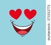 comic faces design  vector... | Shutterstock .eps vector #271511771
