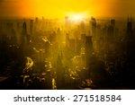 shanghai skyline in sunrise ... | Shutterstock . vector #271518584