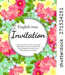 english rose. romantic... | Shutterstock .eps vector #271524251