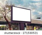 Blank Advertising Billboard At...